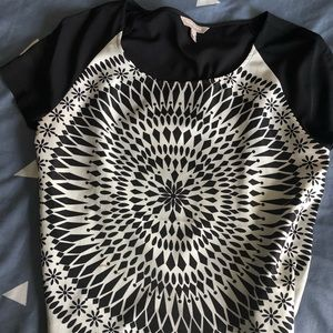 Banana Republic Black & White Printed Blouse